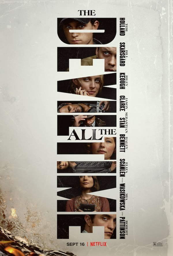 the devil all the time poster tom holland mia wasikowska